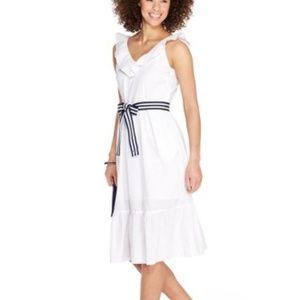 Vineyard Vines for Target White Ruffle Dress